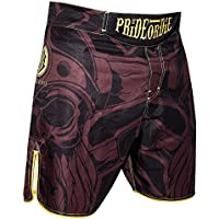"""'Pride Or Die MMA Fight Pantalones Cortos """"Brotherhood–MMA Fight Fitness Deportes de Lucha Pantalones Cortos Para Hombre, color rojo, tamaño large"""