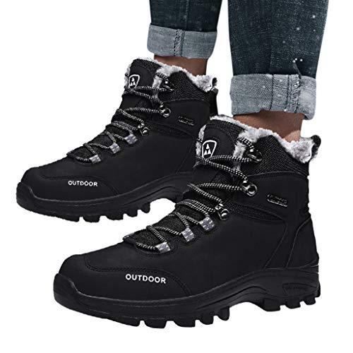 MISSQQScarpe da Trekking Donna Uomo Alte Scarponi da Montagna Impermeabili Leggero e Traspiranti Scarponcini da Escursionismo Passeggio Arrampicata Sportiva All'aperto