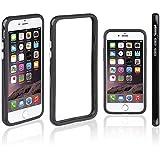Xcessor Classic Bumper Étui Coque Housse Pour Apple iPhone 7 Plus. Caoutchouc et Plastique. Noir