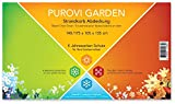 Purovi® Garden Universal Strandkorb Abdeckung aus hochwertigem 420D Oxford Gewebe - 6