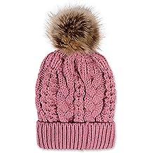 asentechuk - Gorro unisex de lana acrílica, de estilo informal , color rosa, tamaño Tamaño libre
