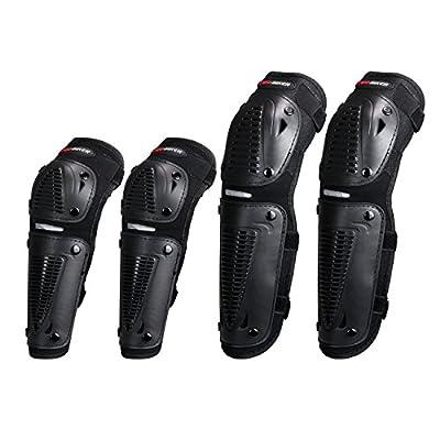 Pro-Biker Ellenbogenschoner/ Knieschützer(Schienbeinschoner) -Set für Mountainbike Sport und Motorsport