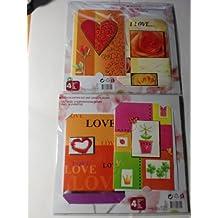 Valentinskarte Valentinstagskarte Karte zum Valentinstag Geschenkskarte Geschenkkarte Grusskarte 4 Karten mit Umschläge