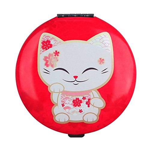 miroir-de-sac-chat-porte-bonheur-mani-the-lucky-cat-rouge-rose