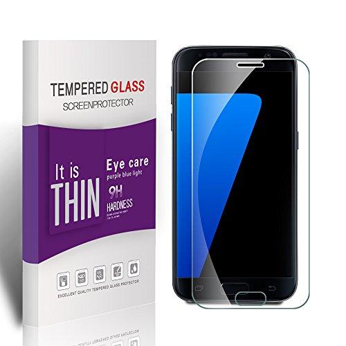 Preisvergleich Produktbild Vegbirt Samsung Galaxy S7 Schutzfolie,  Panzerglas Samsung Galaxy S7,  Galaxy S7 Displayschutzfolie,  9H Härtegrad displayschutzfolie für Samsung Galaxy S7