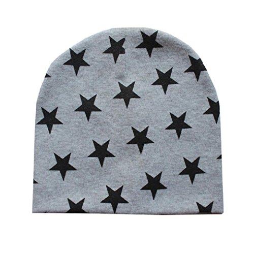 Babybekleidung Hüte & Mützen Longra Kleinkind Baby Jungen Säuglings Winter warme Häkelarbeit Sterne Strickmütze Beanie Hüte Mützen Cap (7 Monate - 3 Jahre) (Gray)