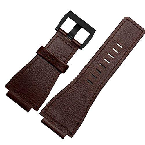 Braun Leder Uhrenarmband 24mm geeignet BR01BR03Bell & Ross Military Band Schwarz Schnalle