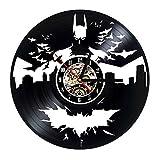 GHQ Batman Horloge Murale Moderne Design Moderne Salon Décoration Classique Vinyle Horloges Mur Montre Home Decor 12 Pouce Silencieux 12 Pouce