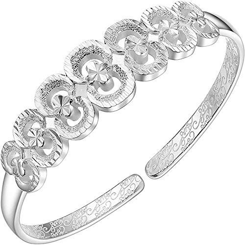 GUANHONG Sterling Silber Armband mit verstellbarem Armband Damen Armband, Mode Persönliche Accessoires Mütter Geschenke