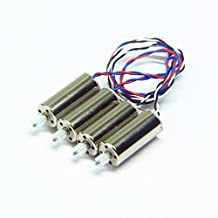 Wwman Spare Part Kit for Udi U45 U42 U42W Rc Quadcopter Drone 2pcs black white wire motor + 2pcs red blue wire motor space parts