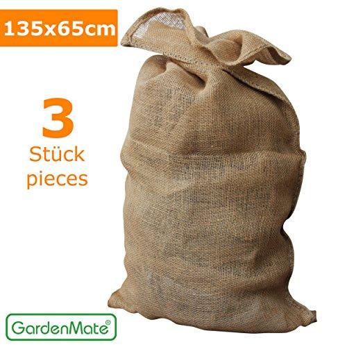 GardenMate® 3x Sacchi di Juta naturale PREMIUM 135 x 65 cm 340gsm