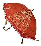 Jaipuri Handmade Designer Silk Umbrella For Gift Purpose 30 X 34 Inches