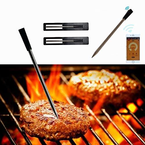 ChaRLes Drahtlose Bluetooth Bbq Lebensmittel Fleisch Thermometer Probe Für Lebensmittel Ofen Fleisch Grillen Digital Thermometer (Fleisch, Digitale Thermometer)