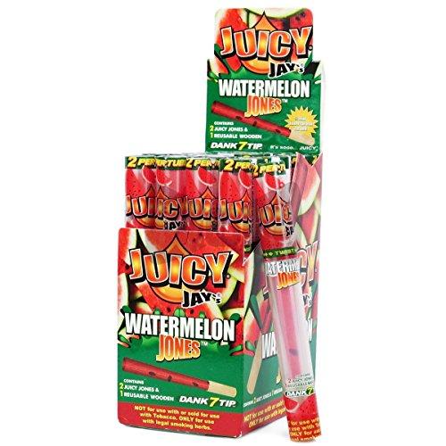 2x Kegel / Zigarettenpapier Juicy Jay's Cyclones Jones Wassermelone (90mm)