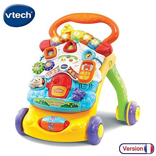 VTech - Super Trotteur Parlant 2 en 1 Orange - Trotteur interactif pour apprendre à marcher