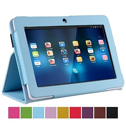 "Nsstar–Funda delgada de 7pulgadas Tablet de piel sintética funda protectora con soporte para 7""AFUNTA Q88, Alldaymall A88X 7"", NeuTab N7Pro, Chromo Inc 7"", AGPtek, Alldaymall Q88, eje, Chromo, Dragon Touch A13Q88, Y88, fasttouch, fortaleza, Kocaso M752WH/M752SL/M752WH/M752BL 7-inch Tablet, Kocaso M7527""Android 4.0Todo el ganador A13, Matricom Tab Nero, Matricom G-Tab Nero CX2, Megafeis M700, nationite QX7, NeuTab N7, Noria Jr, Noria T2, Portworld, Riin, Simbans 7Inch Tablet PC, ZTO N1Plus, Zeepad 7.0"