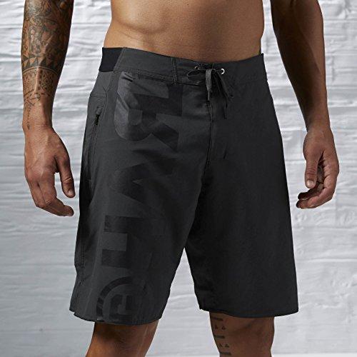 Reebok Herren Oberbekleidung Power Nasty Lightweight Shorts schwarz, XL