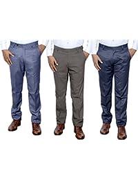 Indistar Combo Offer Mens Formal Trouser (Pack Of 3) - B01JRR1VKO