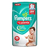 #10: Pampers New Diapers Pants, Medium, 54 Count