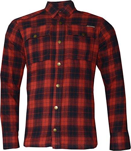 SPEEDSHIRT-2 - KEVLAR - RED-BLACK CHECK L (Fit Gewebt Slim Shirt)