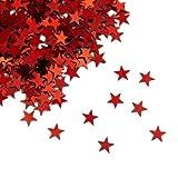 Oblique Unique® Stern Konfetti Rot Über 500 STK. Streu Deko Tischdeko für Weihnachten Geburtstag Fasching Karneval Party