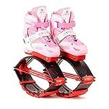 YxnGu Unisex Fitness Bounce Schuhe - Jump Schuhe für Kinder Erwachsene - Anti-Schwerkraft-Laufstiefel zum Tanzen, Laufen, Basketball usw. (Farbe : Rosa, größe : L)