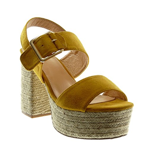 Boucle Corde Chaussure Angkorly Mode Talon Mule Cm Plateforme 11 tqqwUrO