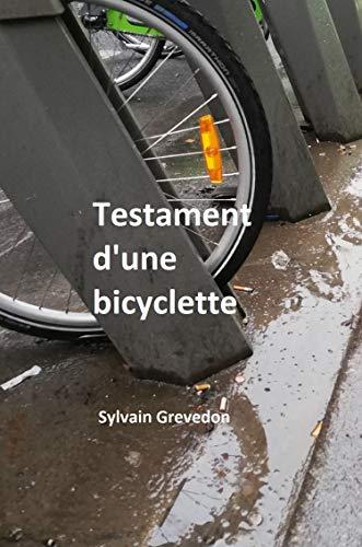 Couverture du livre Testament d'une bicyclette