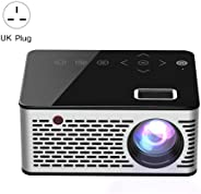 Mini Projector, Full HD Projector, 1920x1080P Home Theater Projector, 500 Lumens Portable Projector with Remote Control, Comp