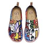 UIN Süße Katze Bemalte Canvas Slip On Schuhe Damen Mehrfarbig Gr.36