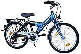 Delta Kinderfahrrad 20 Zoll Fahrrad Shimano 6 Gang Kettenschaltung StVZO tauglich Blau Schwarz