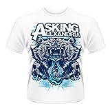 Asking Alexandria - Bear Skull (T-Shirt Unisex Tg. L) [Italia]