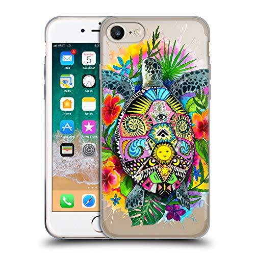 Head Case Designs Ufficiale Pixie Cold Vita da Tartaruga Animali Cover Morbida in Gel per iPhone 7 / iPhone 8