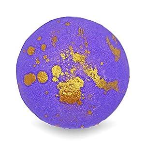 BIG Fizzy Bath Bomb Bollywood – Riesen-Badekugel (240 g / 8.5 oz) | orientalischer Duft, Goldpuder