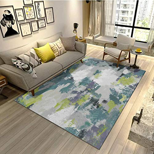 Über Living Room Coffee Table (Velvet living room coffee table carpet bedroom bedside bay window office full shop silk porch carpet customizable size-Khaki,200 * 300CM)
