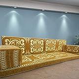 Spirit of 76 Handgefertigt Boden Sofa-Set, Arabisch Majlis, Arabisch Jalsa, Boden Platz Couch, Boden Kissen, Oriental Boden Platz, Wasserpfeife Bar Möbel, Wohnzimmer Dekoration, Kelim Sofa-Set