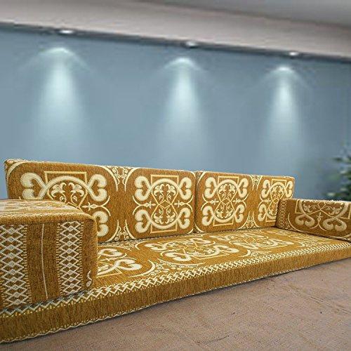 Spirit of 76 Handgefertigt Boden Sofa-Set, Arabisch Majlis, Arabisch Jalsa, Boden Platz Couch, Boden Kissen, Oriental Boden Platz, Wasserpfeife Bar Möbel, Wohnzimmer Dekoration, Kelim Sofa-Set -