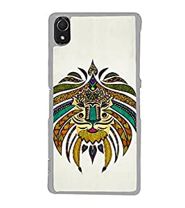 Tribal Art 2D Hard Polycarbonate Designer Back Case Cover for Sony Xperia Z3 :: Sony Xperia Z3 Dual :: Sony Xperia Z3 D6633