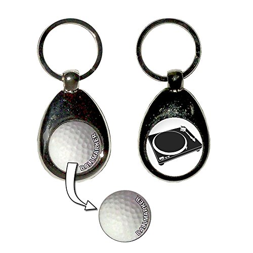 Ring Key Dj (DJ Decks - Golfball-Markierung Key Ring)