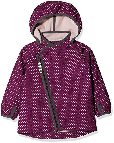 Racoon Baby-Mädchen Jacke Mille Softshelljacke (Wassersäule 5.000), Mehrfarbig (Dark Purple DAR), 80
