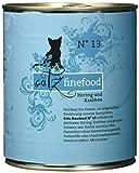 Catz finefood N° 13 Hering und Krabben Katzennassfutter, 6er Pack (6 x 800 g)
