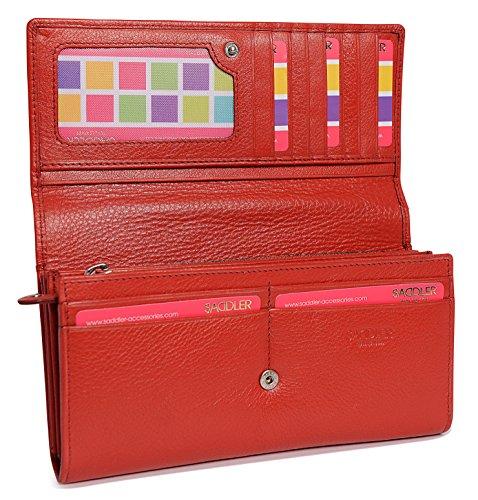 Portafoglio SADDLER da Donna a Fisarmonica con Portamonete da 19cm Rosso