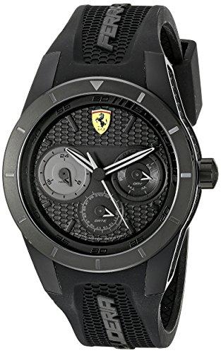 Scuderia Ferrari 0830259 - Reloj de Pulsera Hombre, Silicona, Color Negro