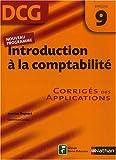 Introduction à la comptabilité DCG9 : Corrigés des applications