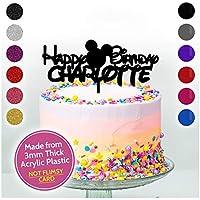 Personalised CARTOON Cake Topper Acrylic Birthday Cake Decoration