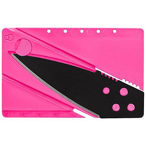 Preisvergleich Produktbild Kreditkarten-Messer,Kreditkartenmesser, Faltmesser, Klappmesser, Camping-Messer, Taschenmesser Messer in pink, Outdoor/Survival Messer