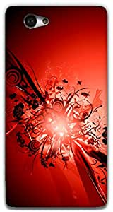 The Racoon Grip Red hard plastic printed back case / cover for Sony Xperia M2