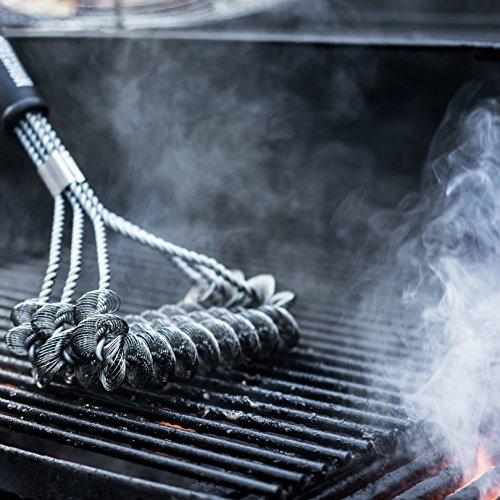5113gEaJOrL - Grillbürste aus Edelstahl 45 cm von Mountain Grillers | Bestes robustes BBQ-Zubehör für Grill, um den Grillrost korrekt, schnell und leicht zu reinigen | Küchenutensilien mit lebenslanger Garantie