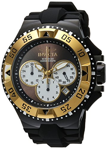 Invicta Men's 'Excursion' Quartz Stainless Steel and Silicone Casual Watch, Color:Black (Model: 23047) image