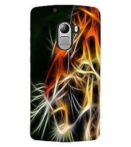 ColourCraft Tiger Look Design Back Case Cover for LENOVO VIBE X3 LITE